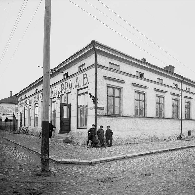 Oy Porin Rauta Ab Yrjönkadun ja Itäpuiston kulmauksessa 1926 (523002)